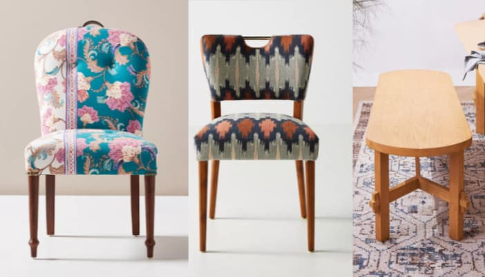 ANTHROPOLOGIE DINING CHAIRS