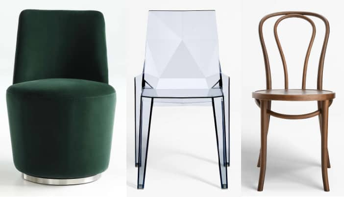 crate and barrel modern dining chairs