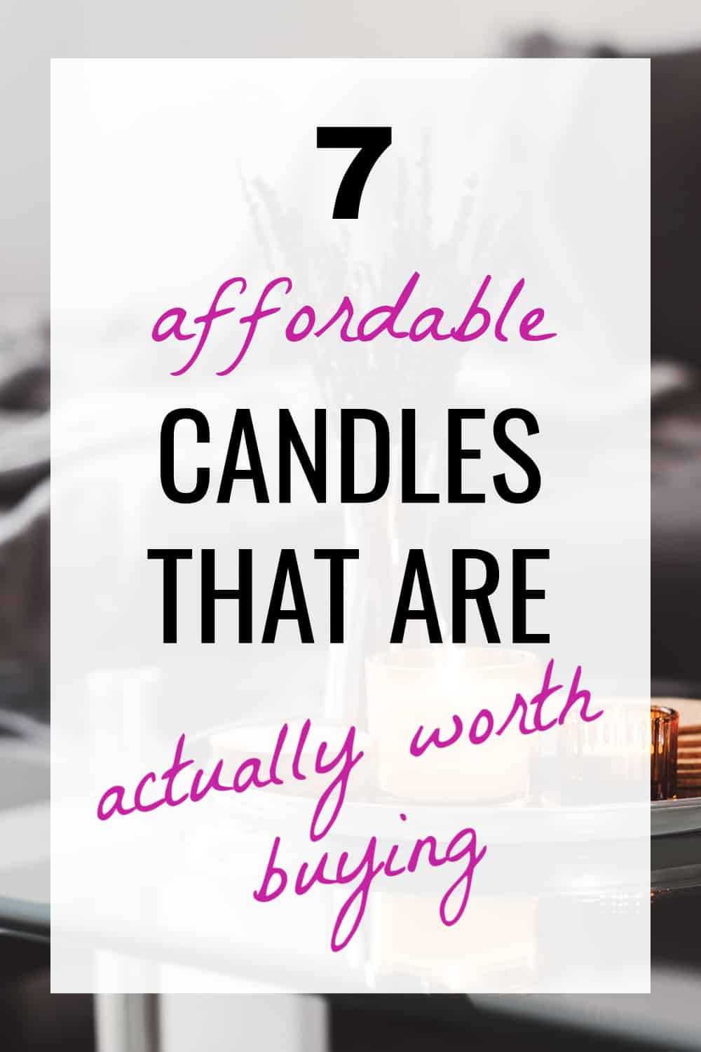 best cheap candles on amazon