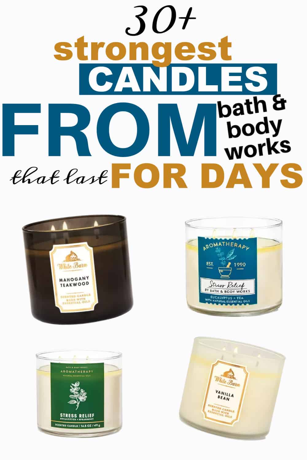 strongest smelling bath and body works candles